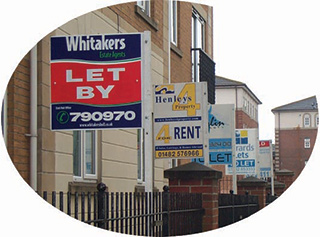 Residential Estate Agent boards Yorkshire