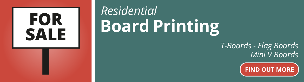 Residential Estate Agent Board printing